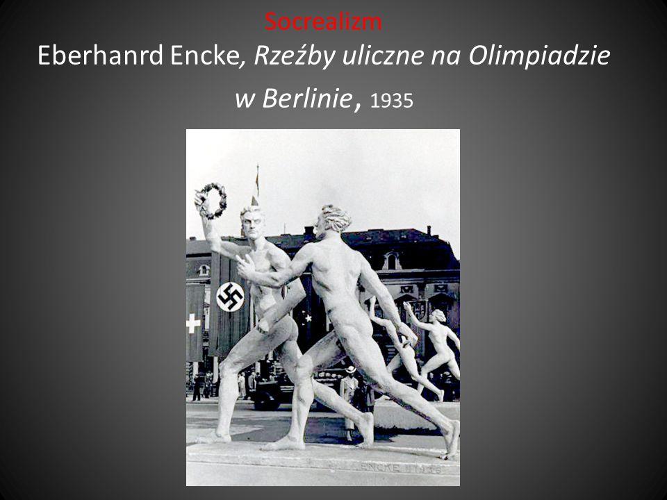 Socrealizm Eberhanrd Encke, Rzeźby uliczne na Olimpiadzie w Berlinie, 1935