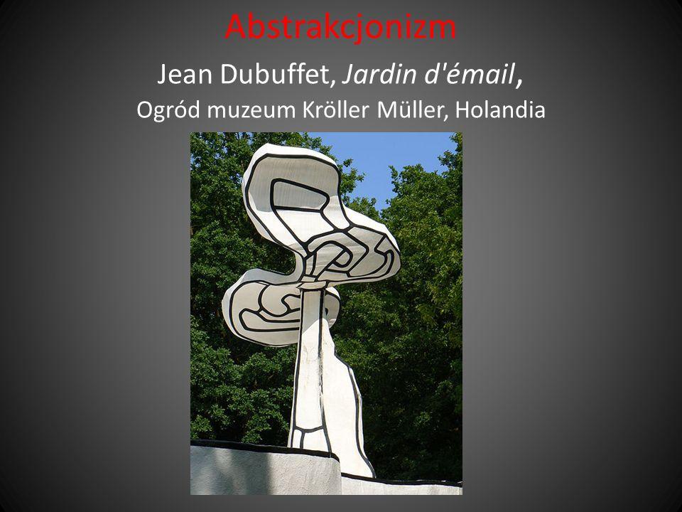 Abstrakcjonizm Jean Dubuffet, Jardin d'émail, Ogród muzeum Kröller Müller, Holandia