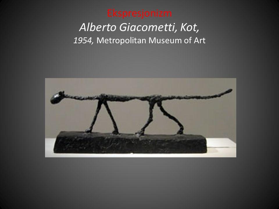 Ekspresjonizm Alberto Giacometti, Kot, 1954, Metropolitan Museum of Art