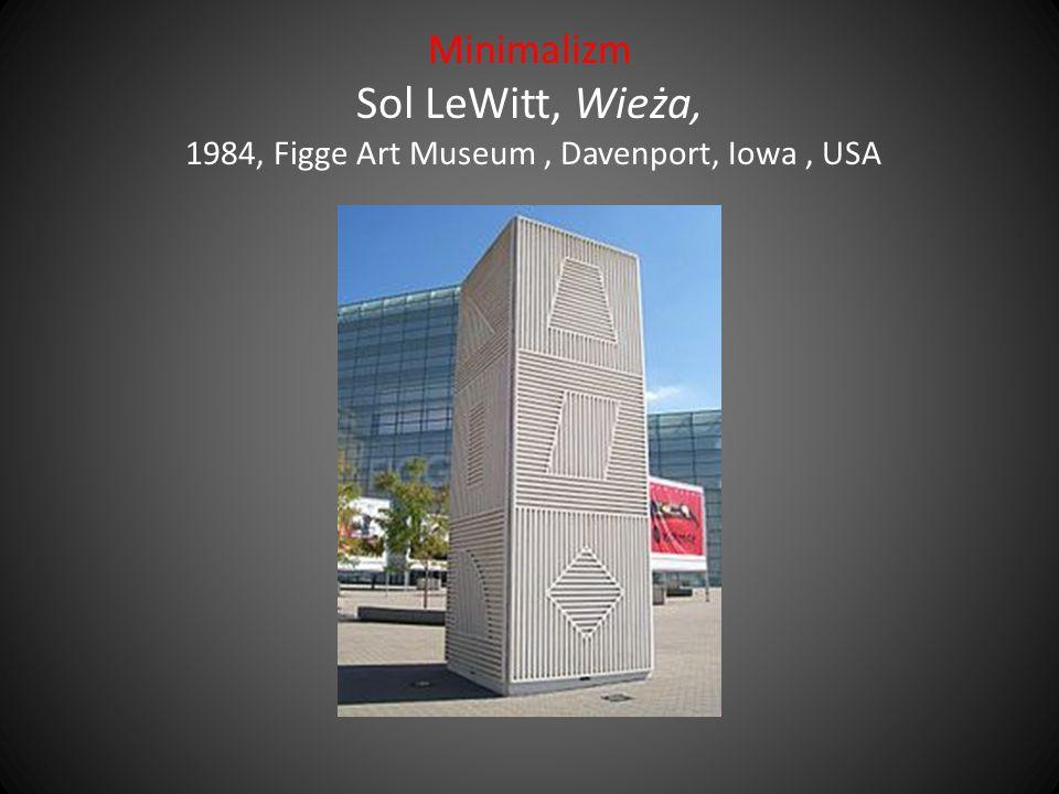 Minimalizm Sol LeWitt, Wieża, 1984, Figge Art Museum, Davenport, Iowa, USA