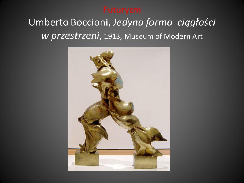 Futuryzm Umberto Boccioni, Jedyna forma ciągłości w przestrzeni, 1913, Museum of Modern Art