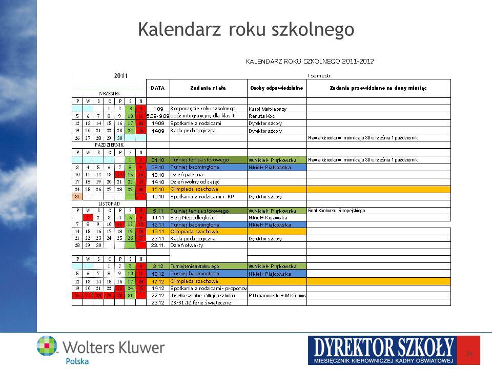 Kalendarz roku szkolnego 26