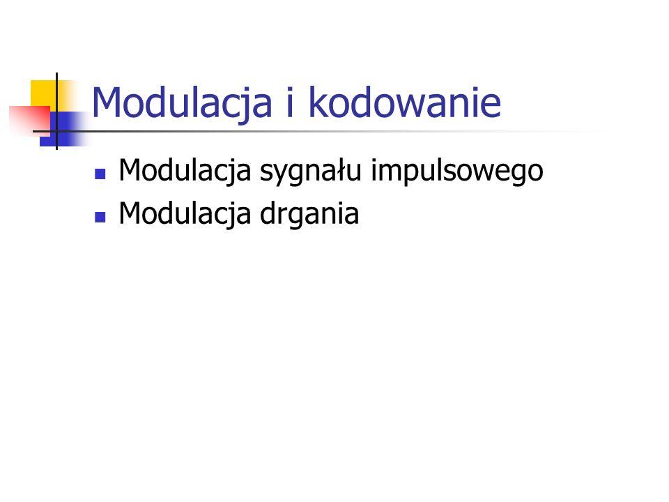 Modulacja i kodowanie Modulacja sygnału impulsowego Modulacja drgania
