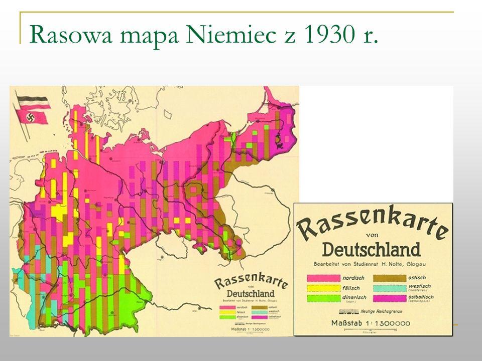 Rasowa mapa Niemiec z 1930 r.