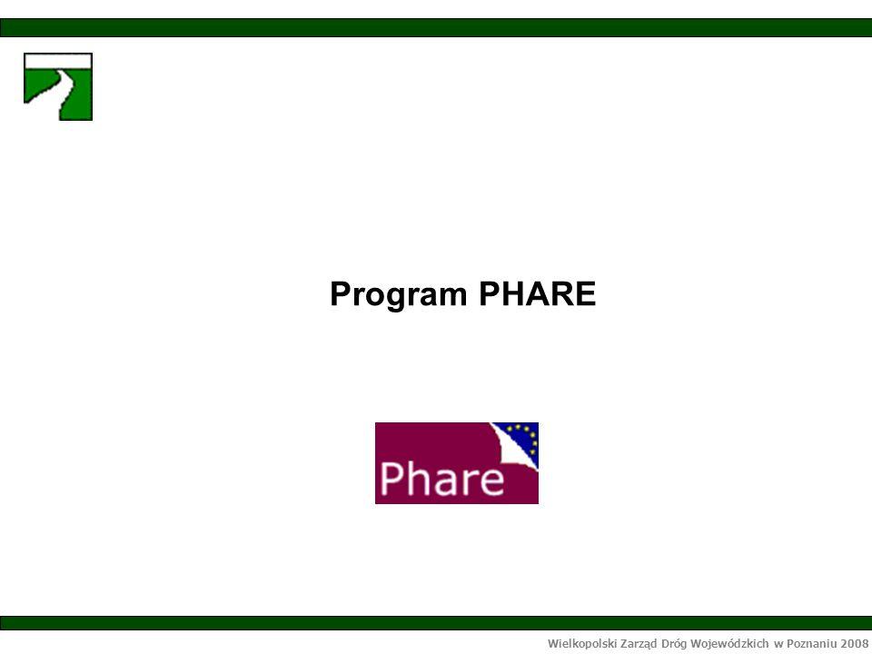 Wielkopolski Zarząd Dróg Wojewódzkich w Poznaniu 2008 Program PHARE