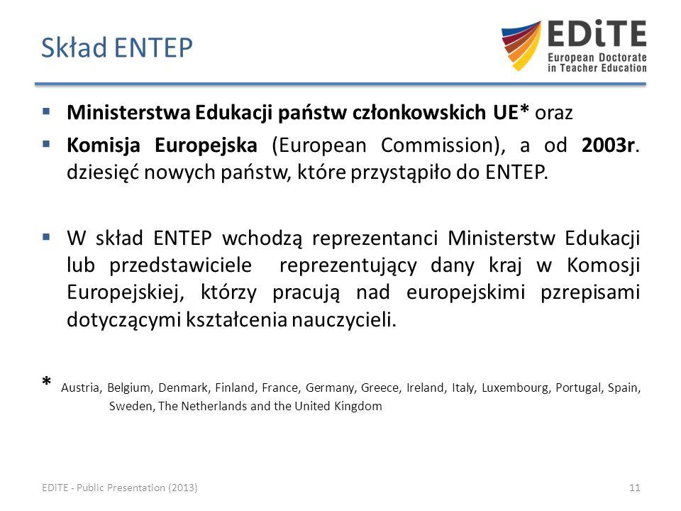 Ministerstwa Edukacji państw członkowskich UE* oraz Komisja Europejska (European Commission), a od 2003r.