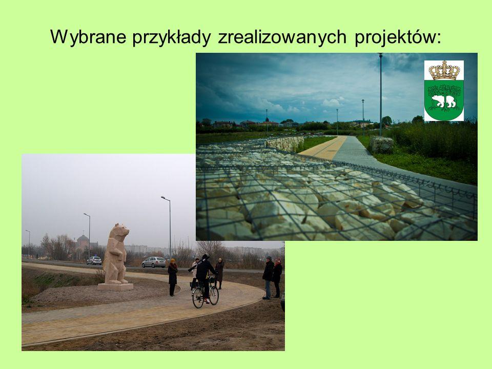 Wybrane przykłady zrealizowanych projektów: