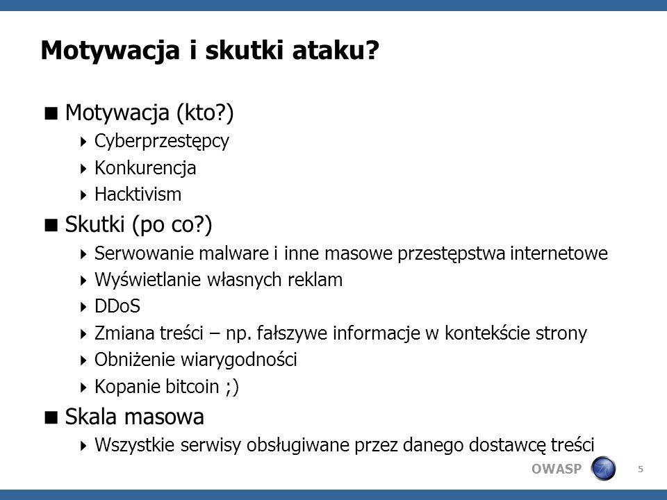 OWASP Motywacja i skutki ataku.