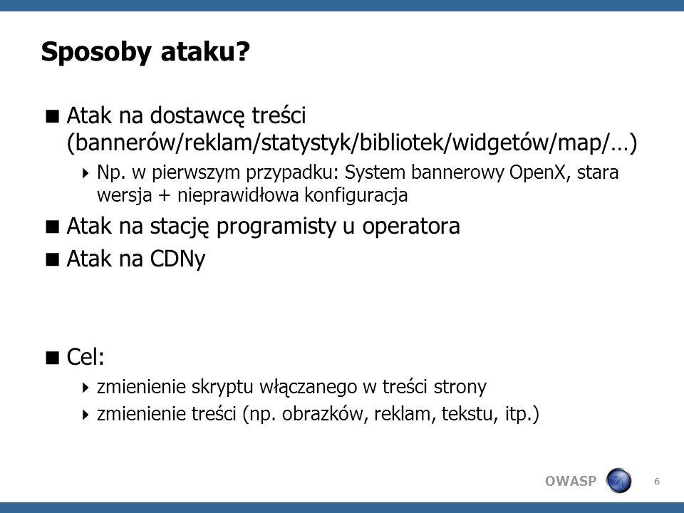 OWASP Czy i jak można się zabezpieczyć.