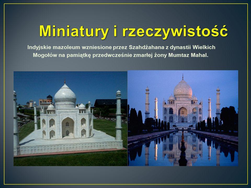 Indyjskie mazoleum wzniesione przez Szahdżahana z dynastii Wielkich Mogołów na pamiątkę przedwcześnie zmarłej żony Mumtaz Mahal.