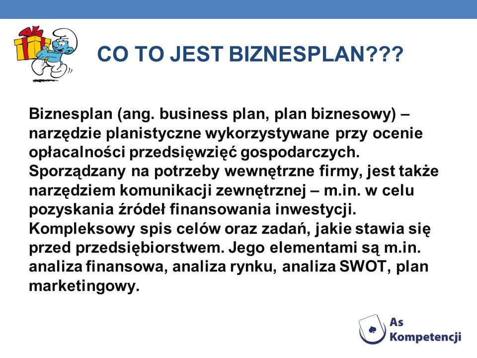 CO TO JEST BIZNESPLAN . Biznesplan (ang.