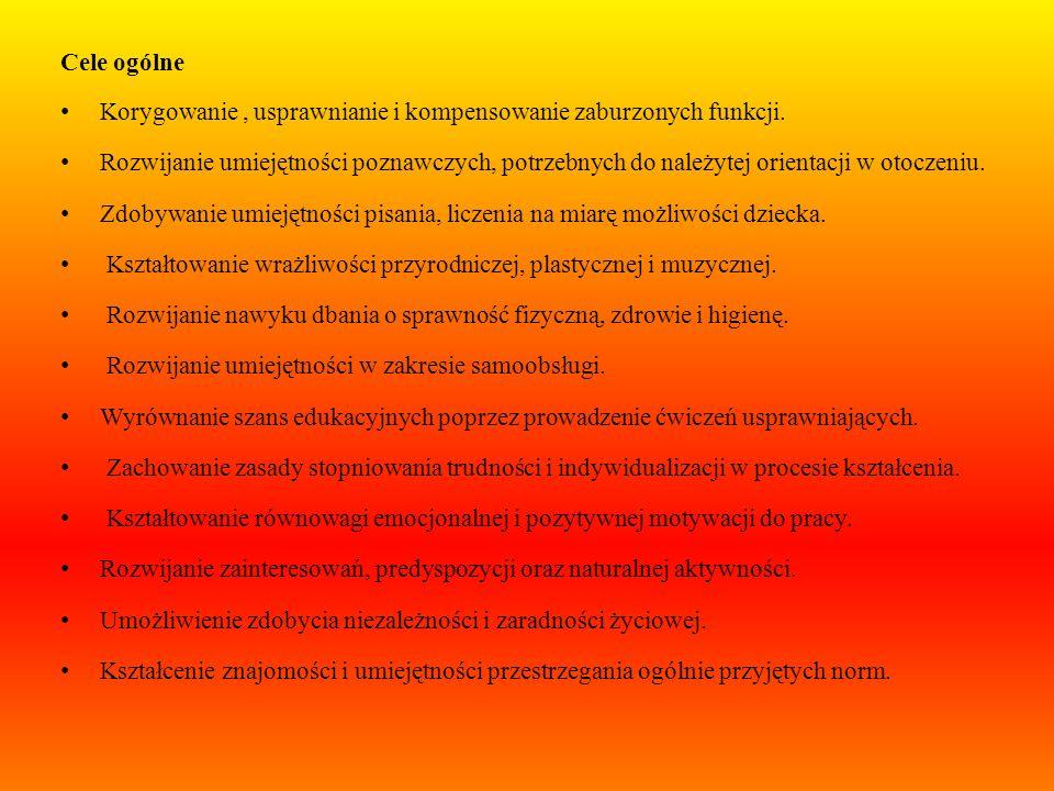 Zalecenia w pracy dydaktycznej: Usprawnianie funkcji myślenia i kojarzenia, Wdrażanie nauki poprzez zabawę, Rozwijanie sprawności grafomotorycznej i k
