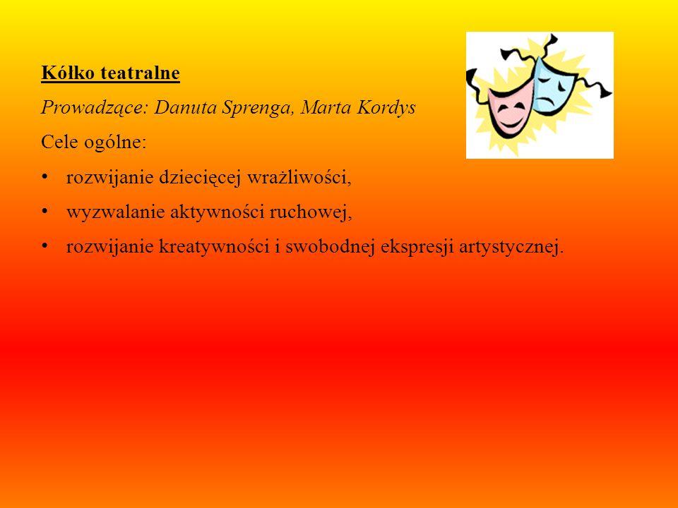 Kółko wokalne: Prowadzące: Marta Kwiatkowska, Małgorzata Sękowska Cele ogólne: muzyczny rozwój dzieci, indywidualne i zespołowe przeżywanie muzyki, ro