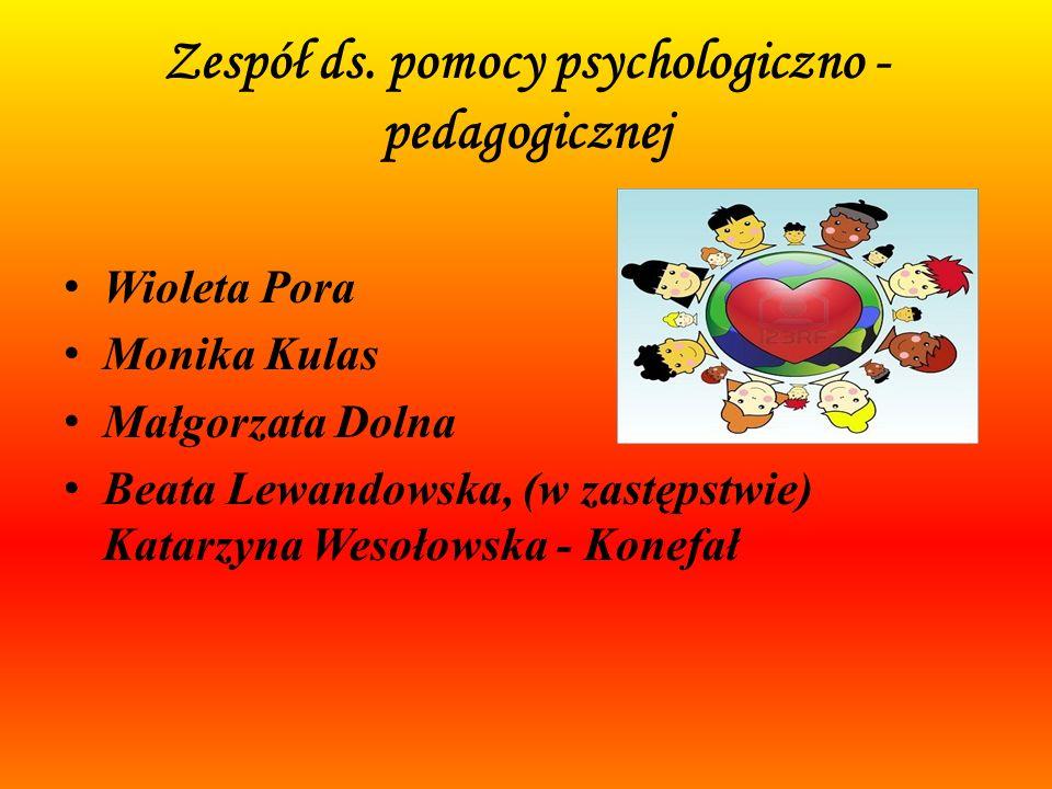POMOC PSYCHOLOGICZNO – PEDAGOGICZNA W SAMORZĄDOWYM PRZEDSZKOLU NR 2 im. JANA BRZECHWY W CZERSKU W ROKU SZKOLNYM 2012/2013