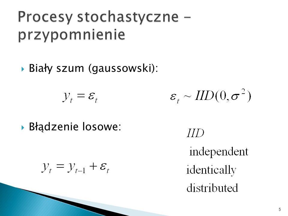 Biały szum (gaussowski): Błądzenie losowe: 5