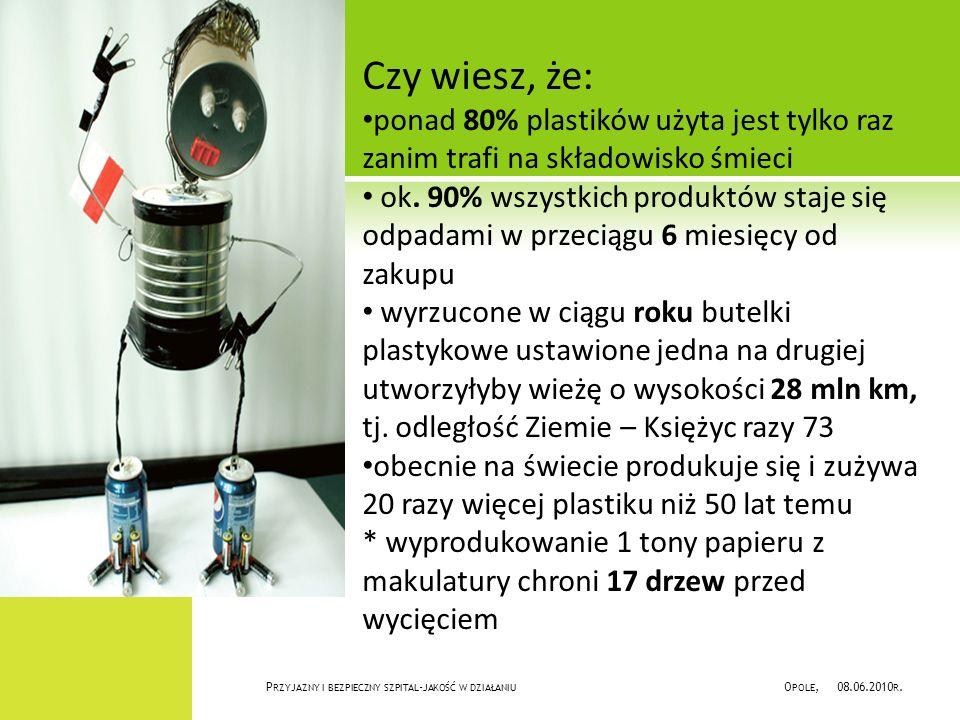 P RZYJAZNY I BEZPIECZNY SZPITAL - JAKOŚĆ W DZIAŁANIU O POLE, 08.06.2010 R.