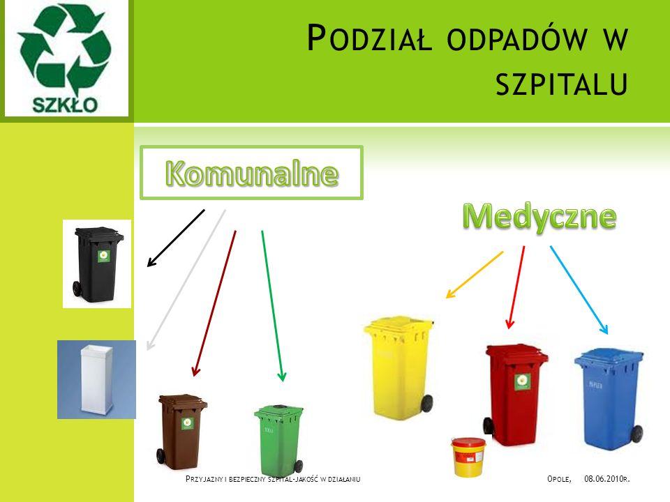 P LAN S ZPITALA W OJEWÓDZKIEGO W OPOLU Odpady komunalne Odpady medyczne Magazyn odpadów selekcjonowalnych Magazyn odpadów niebezpiecznych P RZYJAZNY I BEZPIECZNY SZPITAL - JAKOŚĆ W DZIAŁANIU O POLE, 08.06.2010 R.