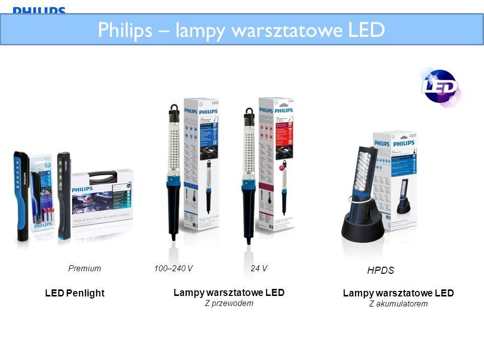 Philips – lampy warsztatowe LED LED Penlight Lampy warsztatowe LED Z przewodem 100–240 V24 V Lampy warsztatowe LED Z akumulatorem HPDS Premium