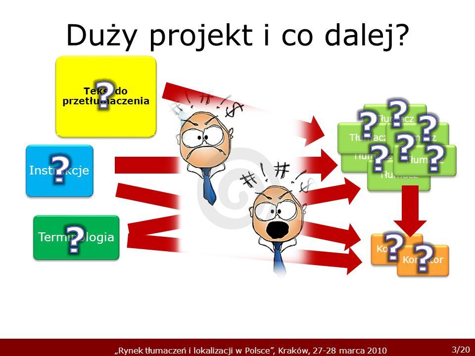 3/20 Rynek tłumaczeń i lokalizacji w Polsce, Kraków, 27-28 marca 2010 Duży projekt i co dalej.