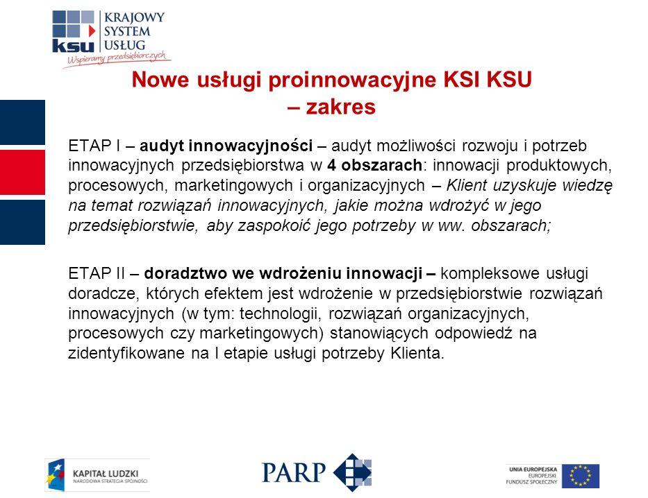 ETAP I – audyt innowacyjności – audyt możliwości rozwoju i potrzeb innowacyjnych przedsiębiorstwa w 4 obszarach: innowacji produktowych, procesowych,