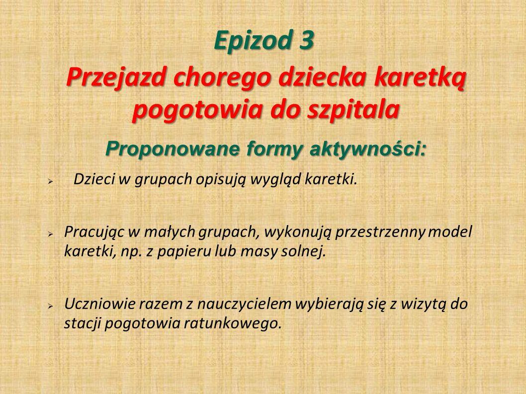 Epizod 4 PYTANIA KLUCZOWE: Jakie informacje zbiera się od pacjenta po przybyciu do szpitala .