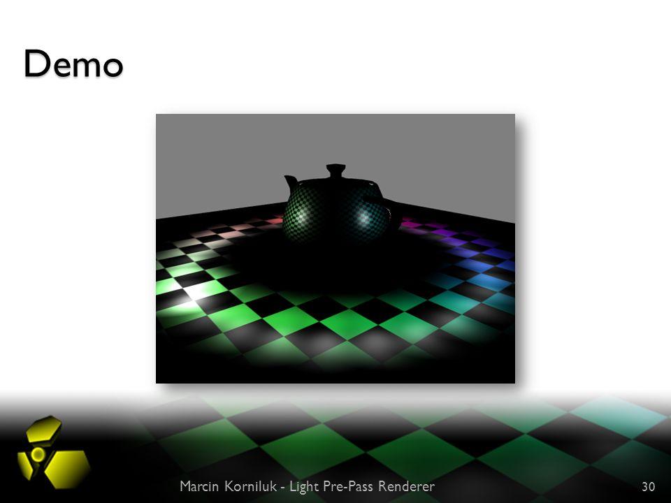 Demo Marcin Korniluk - Light Pre-Pass Renderer 30