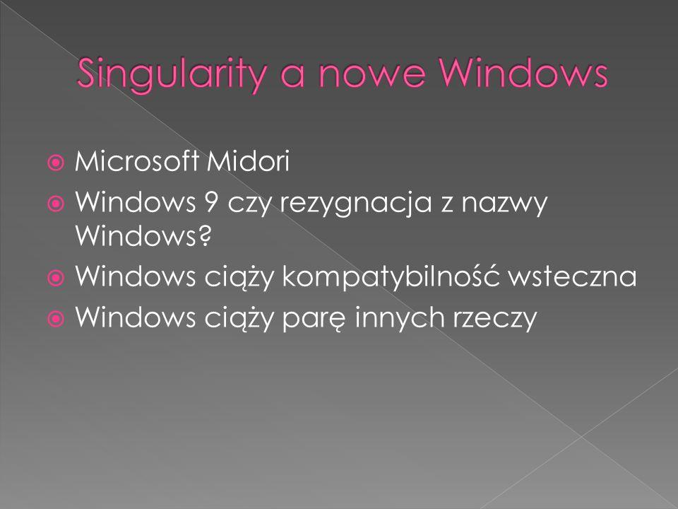 Microsoft Midori Windows 9 czy rezygnacja z nazwy Windows.
