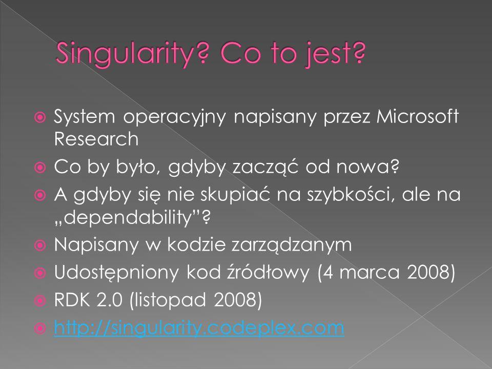 System operacyjny napisany przez Microsoft Research Co by było, gdyby zacząć od nowa.