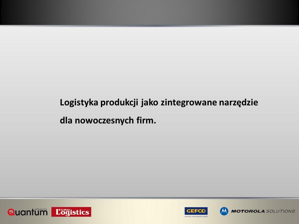 Logistyka produkcji jako zintegrowane narzędzie dla nowoczesnych firm.