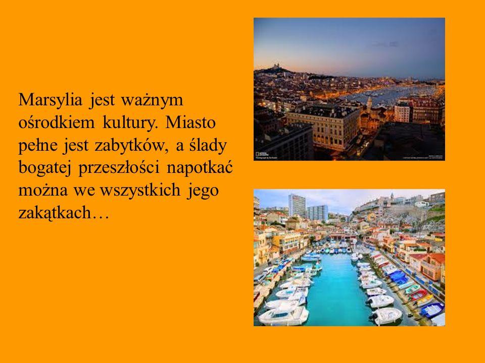 Marsylia jest ważnym ośrodkiem kultury. Miasto pełne jest zabytków, a ślady bogatej przeszłości napotkać można we wszystkich jego zakątkach…
