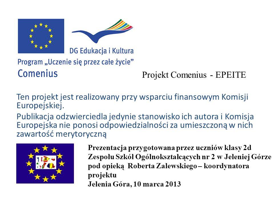 Ten projekt jest realizowany przy wsparciu finansowym Komisji Europejskiej. Publikacja odzwierciedla jedynie stanowisko ich autora i Komisja Europejsk