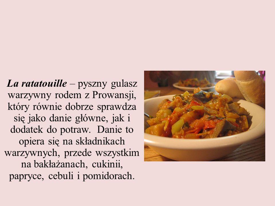 La ratatouille – pyszny gulasz warzywny rodem z Prowansji, który równie dobrze sprawdza się jako danie główne, jak i dodatek do potraw. Danie to opier