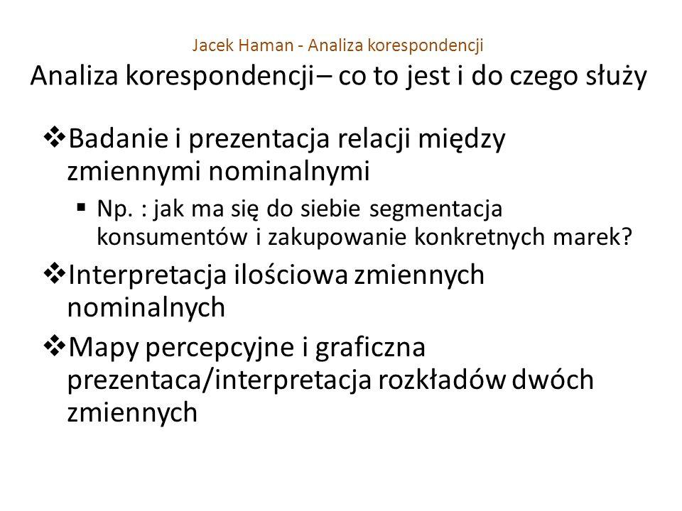 Badanie i prezentacja relacji między zmiennymi nominalnymi Np.