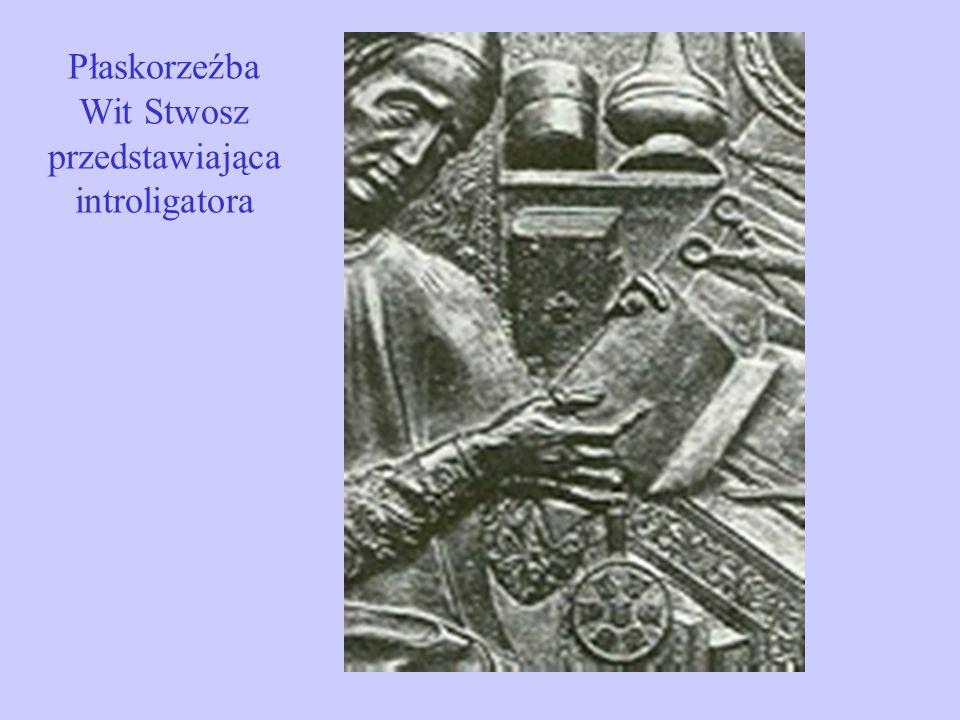 Płaskorzeźba Wit Stwosz przedstawiająca introligatora