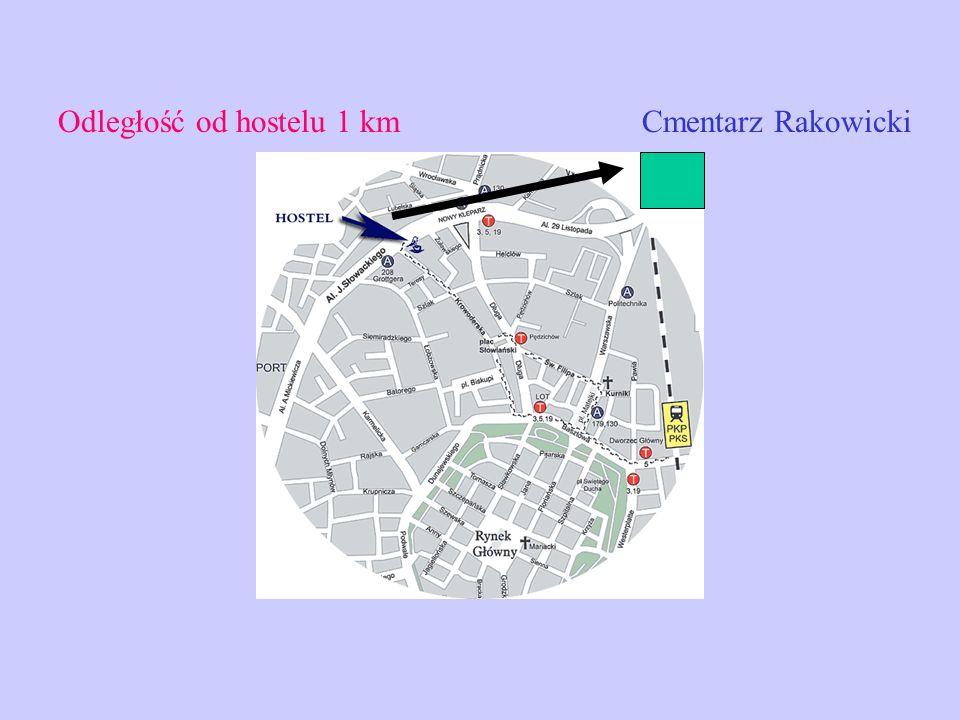 Cmentarz RakowickiOdległość od hostelu 1 km