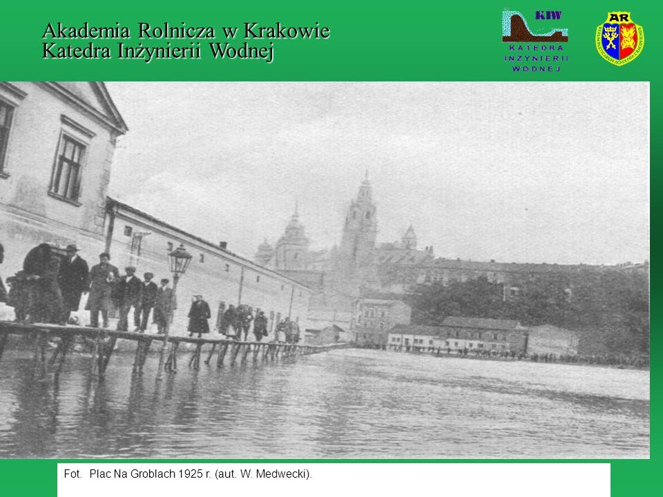 Fot. Plac Na Groblach 1925 r. (aut. W. Medwecki). Akademia Rolnicza w Krakowie Katedra Inżynierii Wodnej