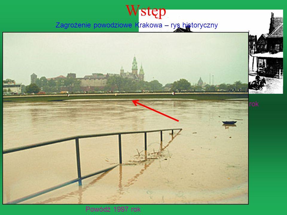 Ulica Piłsudskiego – 1925 rok Ulica Zwierzyniecka 1903 rok Powódź 1997 rok Wstęp Zagrożenie powodziowe Krakowa – rys historyczny