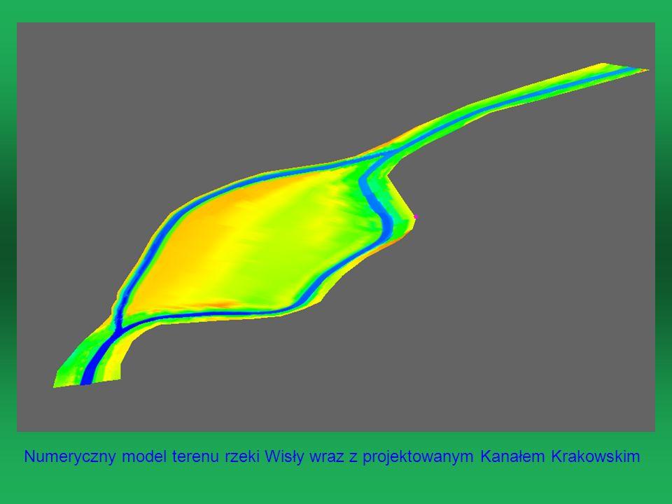 Numeryczny model terenu rzeki Wisły wraz z projektowanym Kanałem Krakowskim