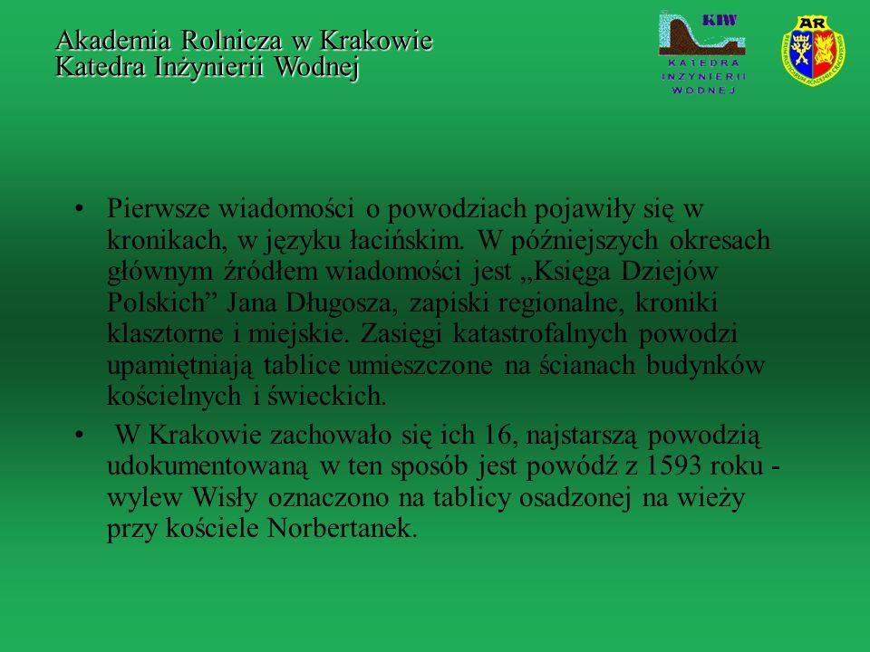 LITERATURA Sikorski T., 1906, Projekt alternatywnego przekopu Wisły pod Krakowem, Drukarnia Związkowa, Depczyński W., Szamowski A., 1999, Budowle i zbiorniki wodne, Oficyna Wyd.