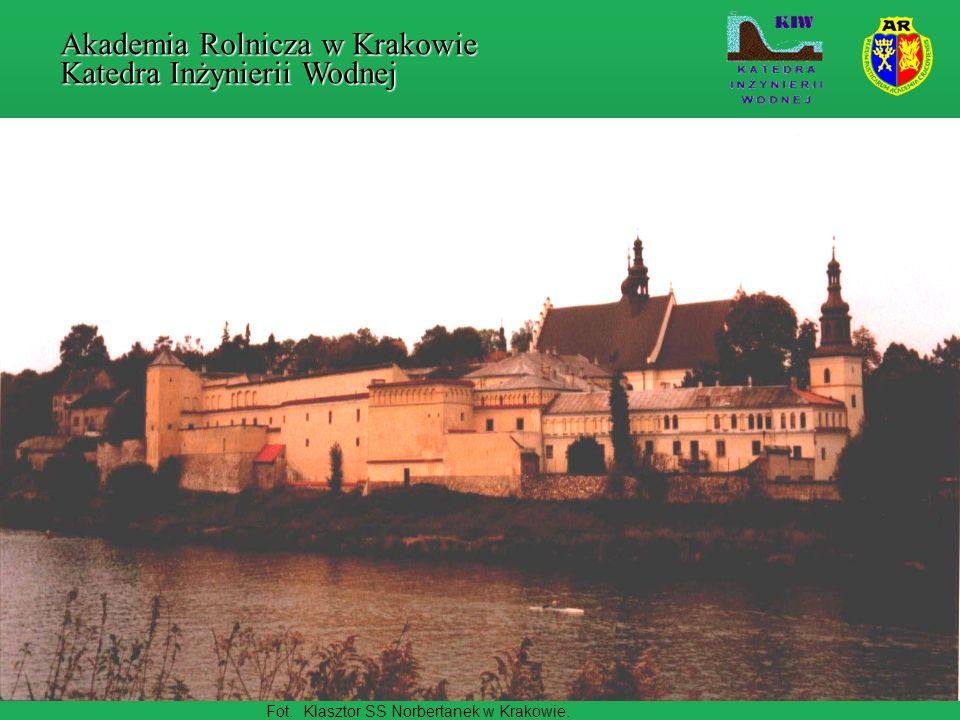 Rys.Szkic projektowanego kanału ulgi dla Krakowa.