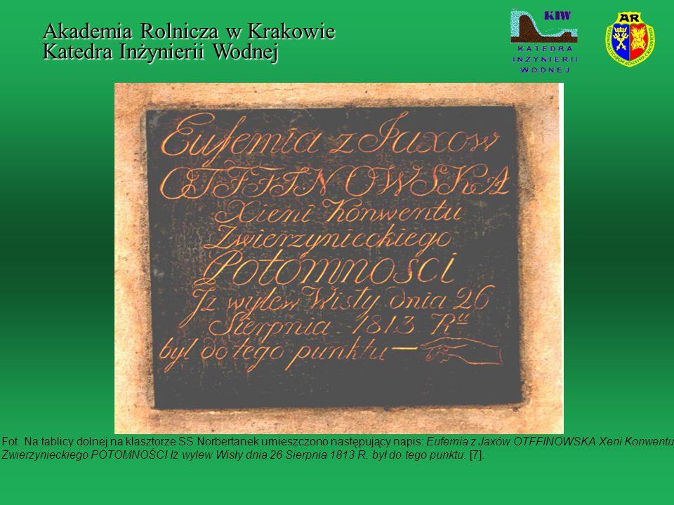 Fot. Na tablicy dolnej na klasztorze SS Norbertanek umieszczono następujący napis: Eufemia z Jaxów OTFFINOWSKA Xeni Konwentu Zwierzynieckiego POTOMNOŚ