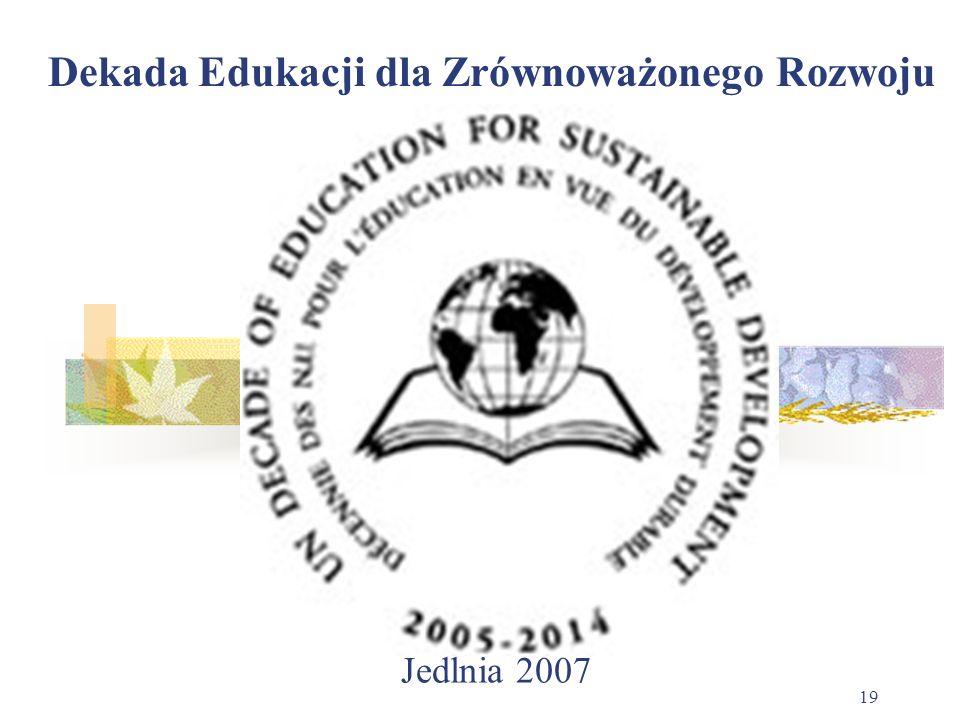 Jedlnia 2007 19 Dekada Edukacji dla Zrównoważonego Rozwoju