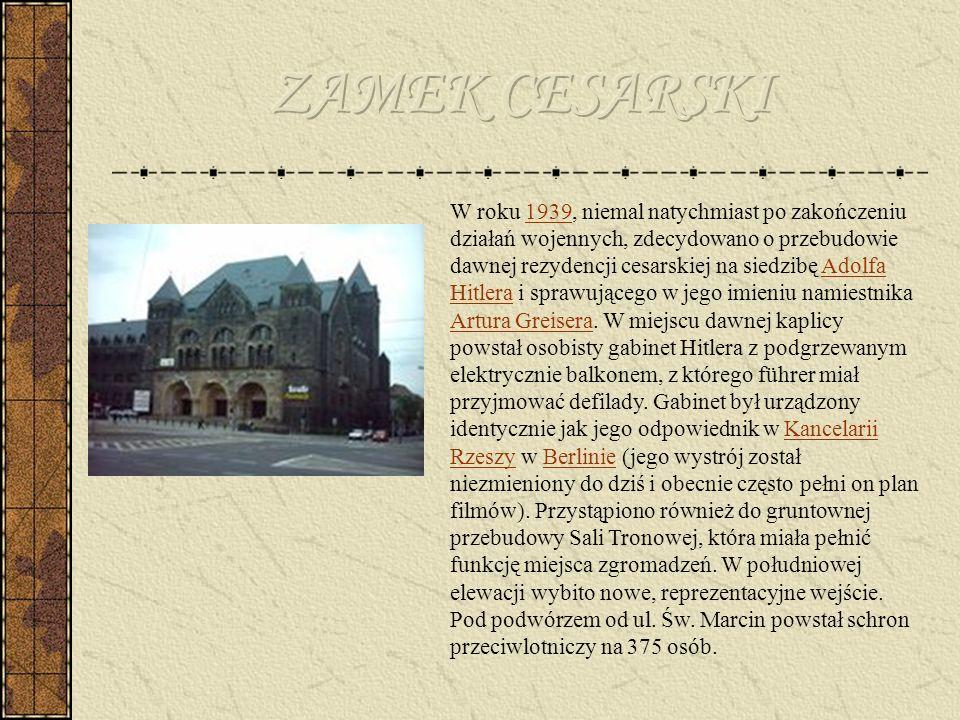 Po kapitulacji Cytadeli 23 lutego 1945 roku w Zamku powstał obóz przejściowy dla jeńców niemieckich, a następnie w kompleksie mieściły się koszary Ludowego Wojska Polskiego.23 lutego1945 W 1962 roku Zamek przemianowany został na Nowy Ratusz i stał się siedzibą Miejskiej Rady Narodowej, a następnie – Pałacu Kultury.