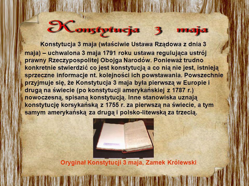 Pracę nad ustawą rządową rozpoczął król Stanisław August Poniatowski wraz z kilkoma parlamentarzystami i intelektualistami, podczas Sejmu Czteroletniego w 1788 r.