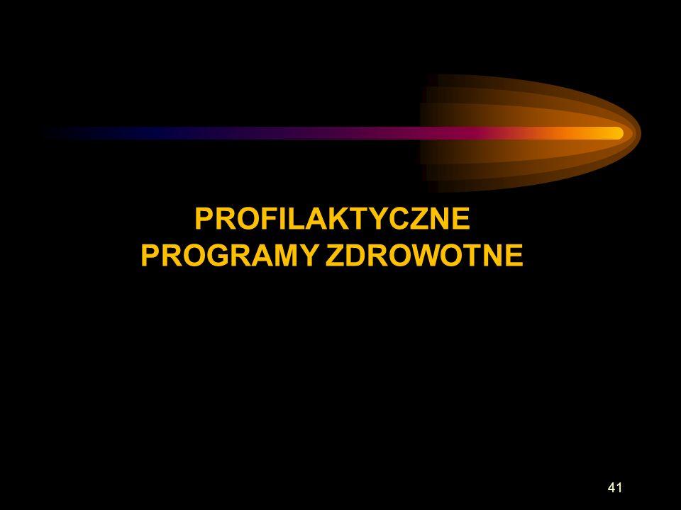 PROFILAKTYCZNE PROGRAMY ZDROWOTNE 41