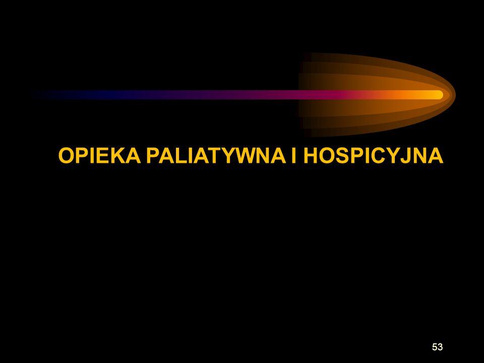 OPIEKA PALIATYWNA I HOSPICYJNA 53