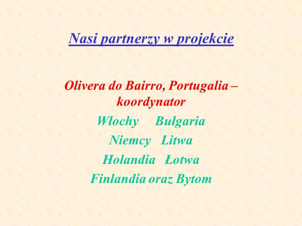 Nasi partnerzy w projekcie Olivera do Bairro, Portugalia – koordynator Włochy Bułgaria Niemcy Litwa Holandia Łotwa Finlandia oraz Bytom