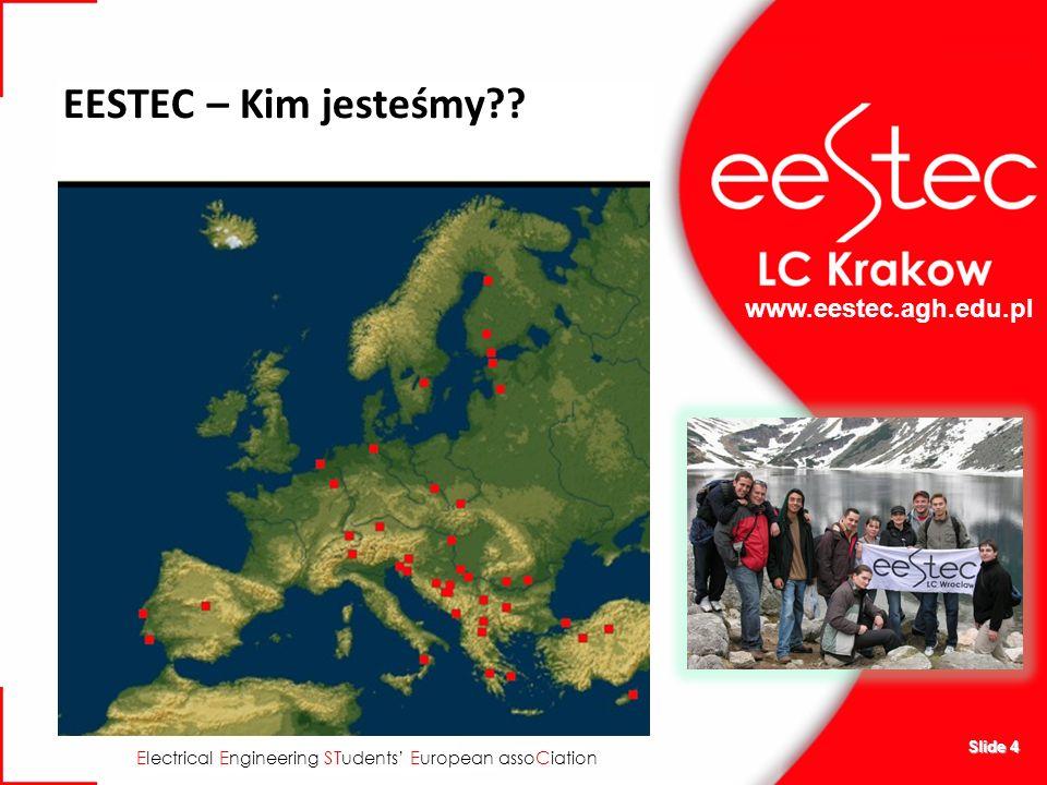 www.eestec.agh.edu.pl E lectrical E ngineering ST udents E uropean asso C iation EESTEC – Kim jesteśmy?? Slide 4