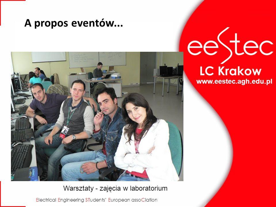 www.eestec.agh.edu.pl E lectrical E ngineering ST udents E uropean asso C iation A propos eventów... Warsztaty - zajęcia w laboratorium
