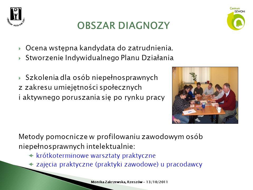 Ocena wstępna kandydata do zatrudnienia. Stworzenie Indywidualnego Planu Działania Szkolenia dla osób niepełnosprawnych z zakresu umiejętności społecz